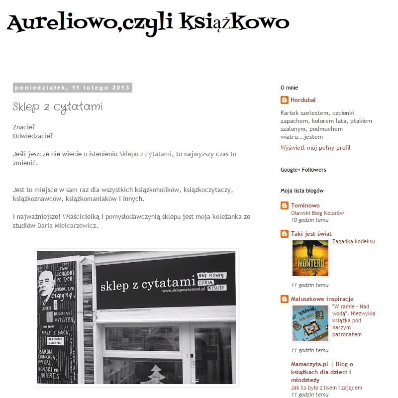 Aureliowo czyli książkowo - Sklep z cytatami