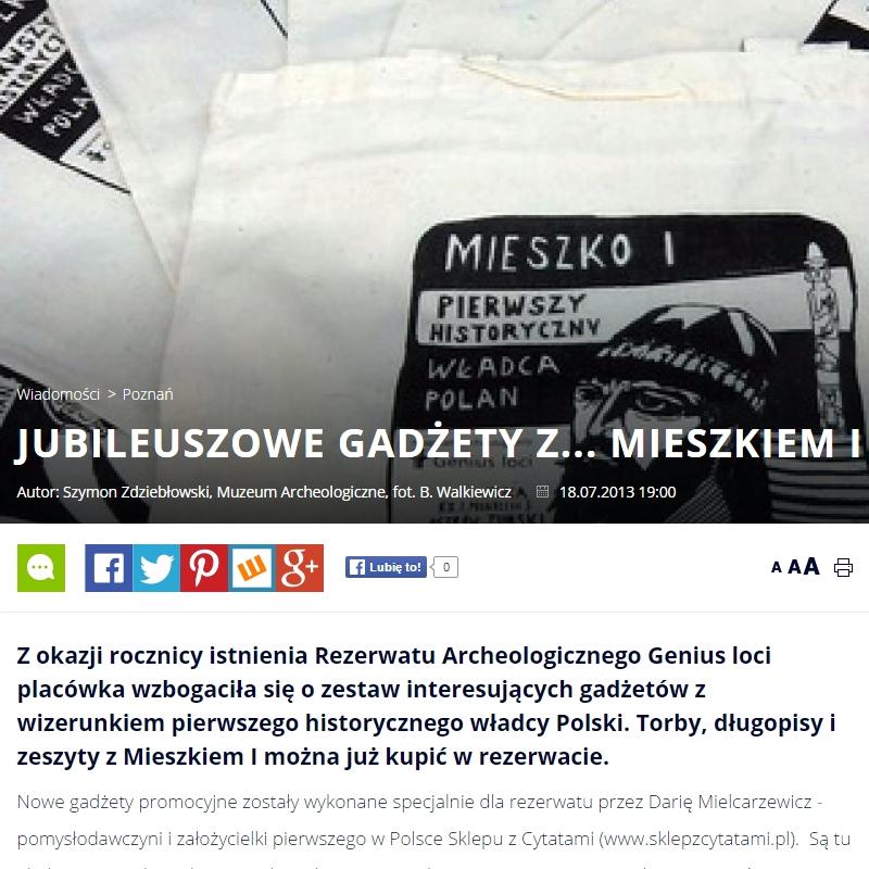 CodziennyPoznan.pl- Jubileuszowe gadżety z Mieszkiem I