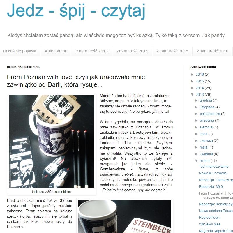 From Poznań with love, czyli jak uradowało mnie zawiniątko od Darii, która rysuje